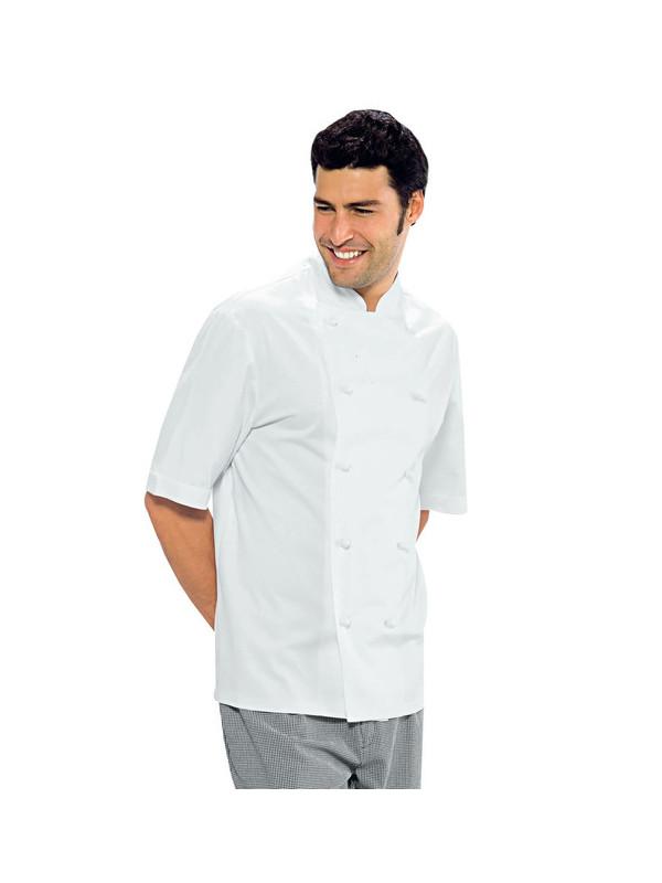 XXL Made in EU Veste de Cuisine Chef Homme Professionnel Manches Courtes strongAnt/® Blanc S